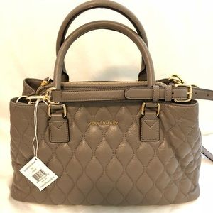 Vera Bradley Quilted Emma Satchel in Taupe